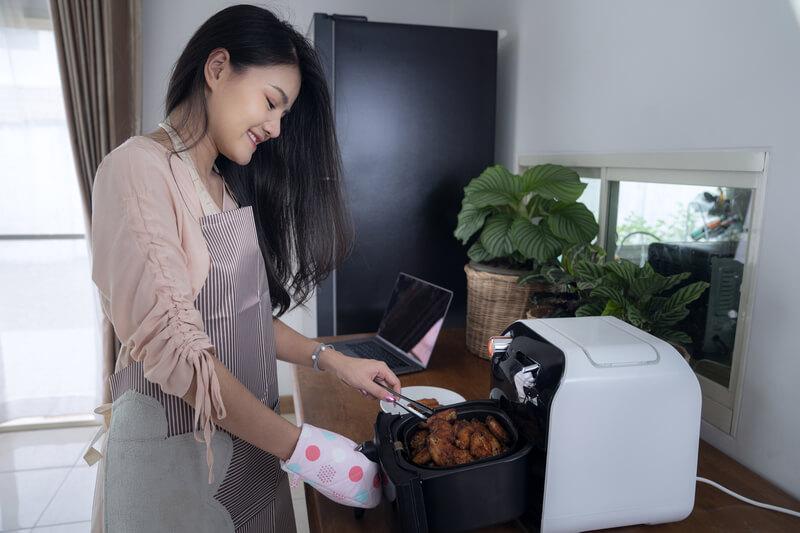 koken met airfryer